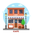 Architecture of cafe street exterior view vector image vector image