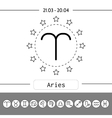 Aries zodiac sign icon for horoscopes vector image
