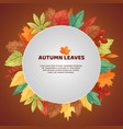 autumn leaves poster green vector image vector image