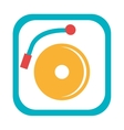 blue and yellow dj turntable graphic vector image vector image