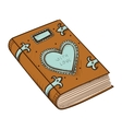 Book with decorative heart vector image