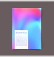 bright colorful portfolio book cover ready to vector image