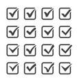 checkbox icon set vector image vector image