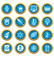 chemistry laboratory icons set simple style vector image vector image