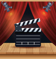 cinema entertainment with courtain vector image vector image