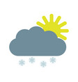 cloud with snow vector image vector image