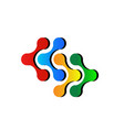 connection teamwork business icon vector image