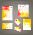 Corporate brand Business identity design Template vector image vector image