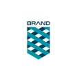 creative shield logo symbol template vector image