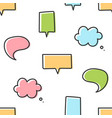 cute and colorful cartoon speech bubbles pattern vector image vector image