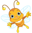 Cute Bee flying vector image vector image