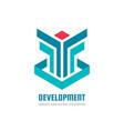 development - business logo template vector image
