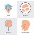 eczema symptoms icon set in flat style vector image
