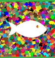 fish sign white icon on vector image