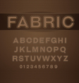 font fabric vector image