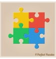 Four Colourful Puzzle Pieces vector image