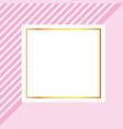 frame square cartoon vector image vector image