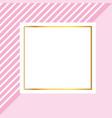 frame square cartoon vector image