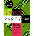 Geometric music party poster vector image