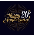 Happy Anniversary Calligraphic and Starburst vector image
