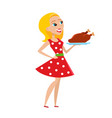 happy woman isolated on vector image vector image