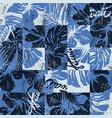 hawaiian hibiscus flowers vintage patchwork vector image vector image