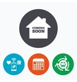 Homepage coming soon icon vector image vector image