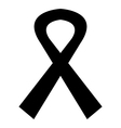 icon black mourning ribbon vector image vector image