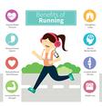 infographic benefits running vector image