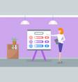 infographics on whiteboard presentation data vector image