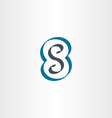 letter s or number 8 eight logo icon vector image vector image