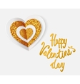 LOVE YOU - Greeting card for Valentines Day vector image vector image