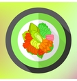 Meat steak flat icon vector image