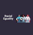 mix race women with different skin color standing vector image vector image