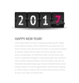 New Year page concept Flip clock changing to 2017 vector image vector image