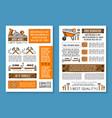 posters of home repair sketch work tools vector image vector image