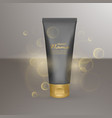 realistic black matt tube on background with sun vector image vector image