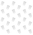 seamless pattern line take away coffee vector image vector image