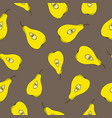 seamless pattern with pears on a grey background vector image