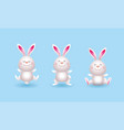 set cute rabbit character wild animal vector image vector image