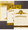 set of elegant templates vector image vector image