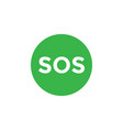 sos icon design template isolated vector image vector image