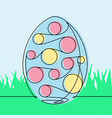 spotted easter egg 2 continuous line vector image vector image