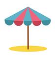 sun umbrella in sand vector image vector image