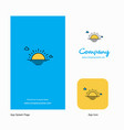 sunset company logo app icon and splash page vector image