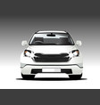 suv white color front car vector image