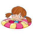 swimmer funny girl vector image vector image