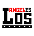 T shirt typography Los Angeles vector image vector image
