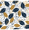 trendy seamless pattern with botanical elements vector image vector image