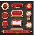 Vintage red gold frame banners vector image vector image